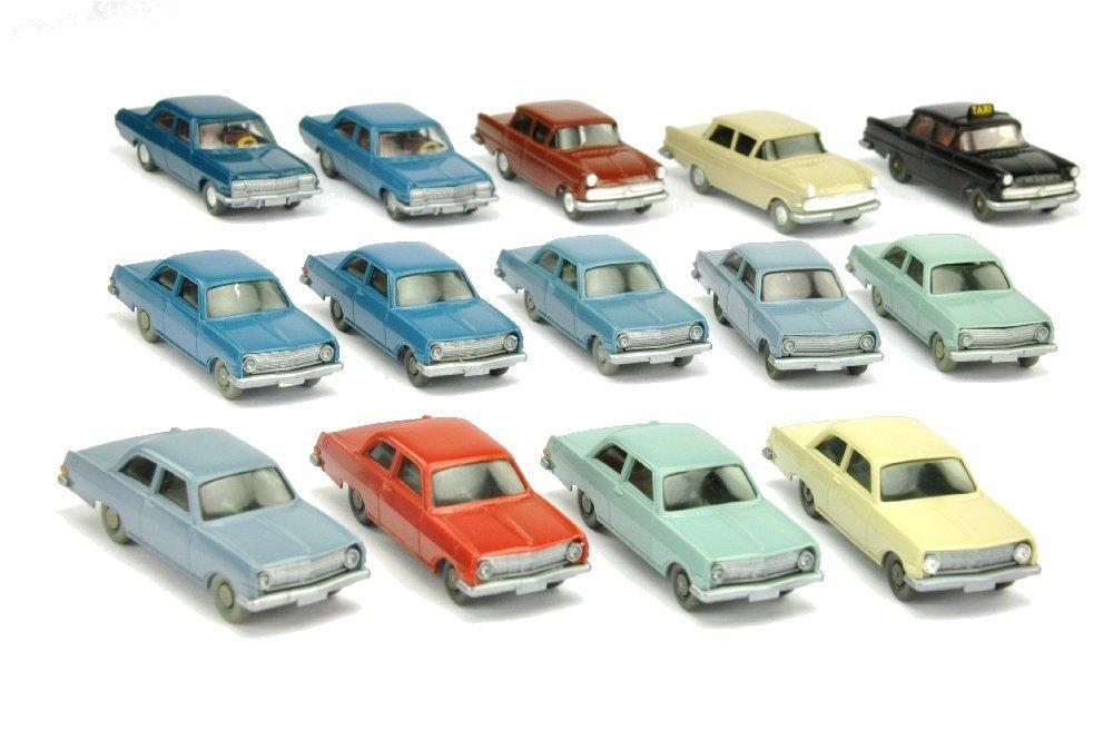 Konvolut 14 Opel-PKW der 60er/70er Jahre