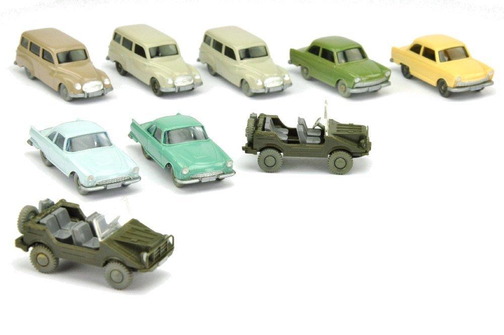 Konvolut 9 DKW-PKW der 60er Jahre
