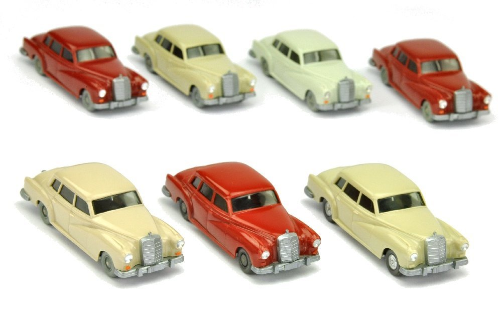 Konvolut 7 Mercedes 300 der 60er/70er Jahre