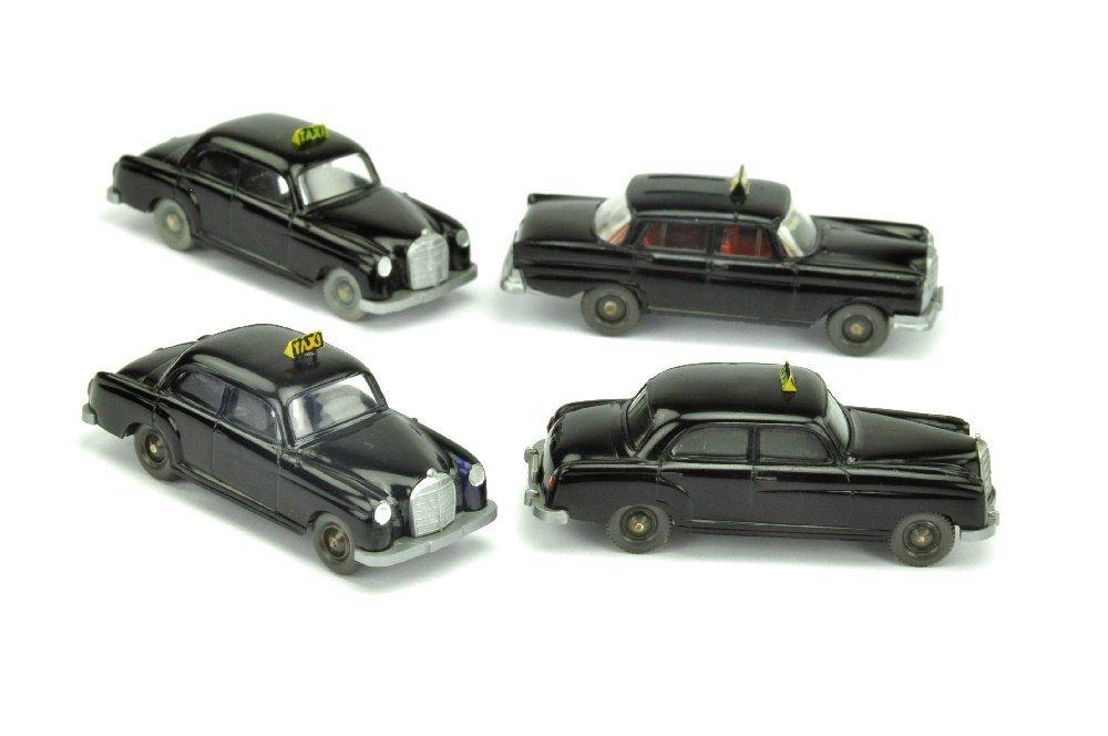 Konvolut 4 Taxis der 60er Jahre