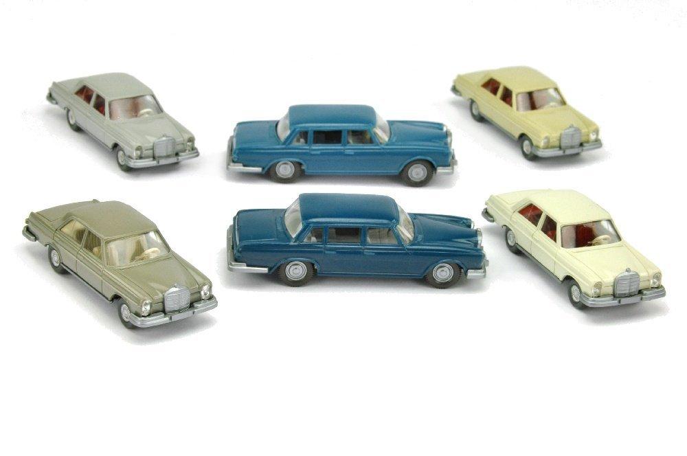 Konvolut 6 Mercedes-PKW der 60er/70er Jahre