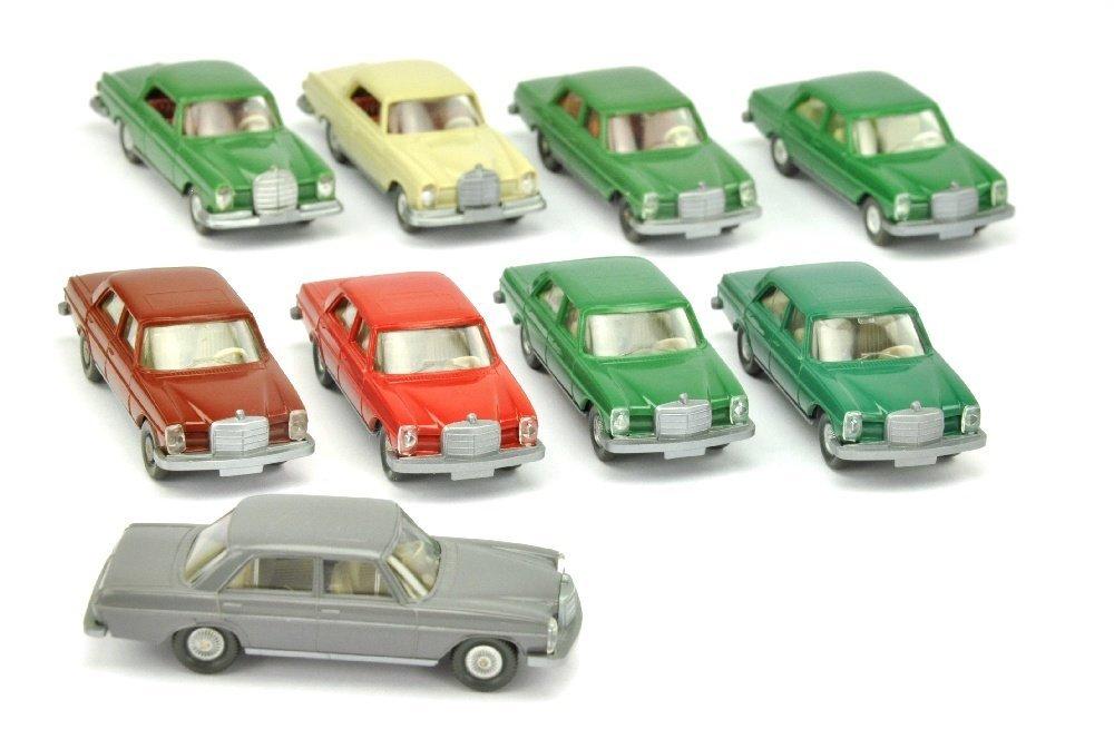 Konvolut 9 Mercedes-PKW der 70er Jahre