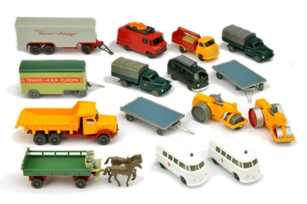 Konvolut 15 Modelle der 60er/70er Jahre