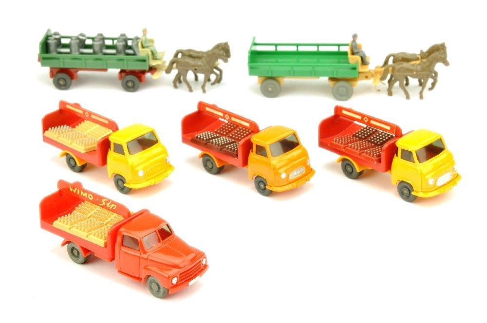 Konvolut 6 Getraenkewagen der 50er/70er Jahre