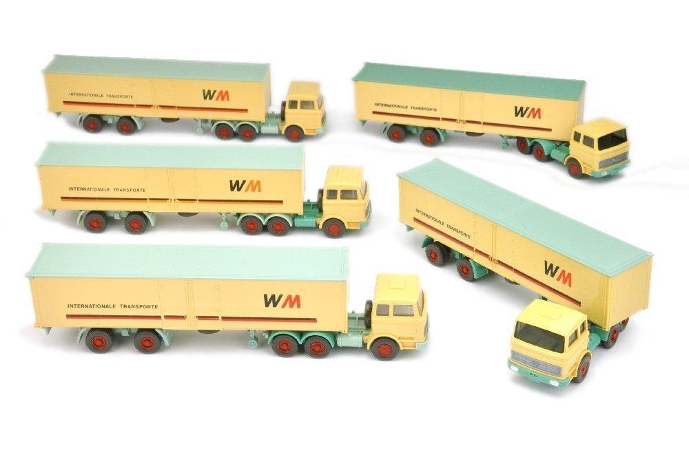Konvolut 5 Container-LKW der 70er Jahre