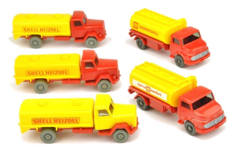Konvolut 5 Tankwagen der 60er/70er Jahre