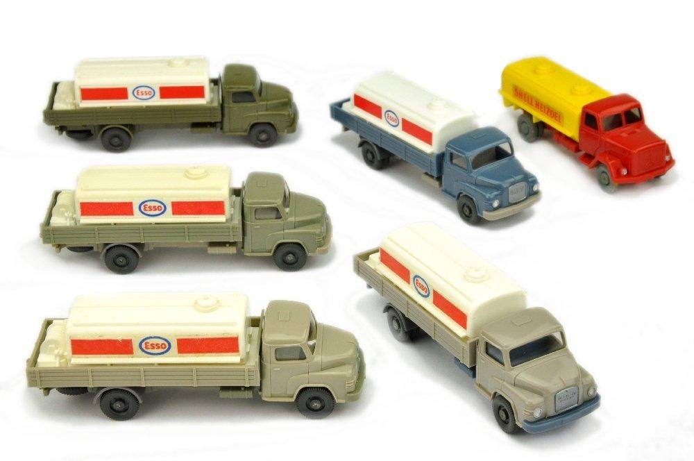 Konvolut 6 Tankwagen der 60er/70er Jahre