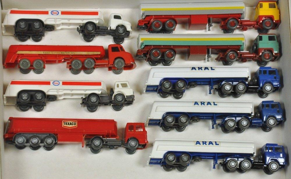 Konvolut 9 Tankwagen der 60er/70er Jahre