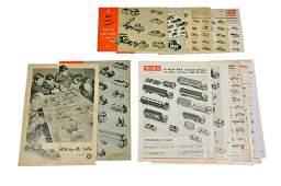 Konvolut 15 Preislisten 1957 bis 1979