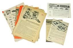 Konvolut 24 Preislisten 1954 bis 1973
