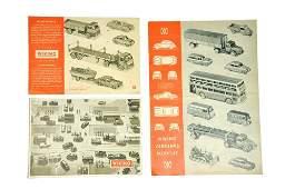 Konvolut 3 Preislisten 1959 bis 1963