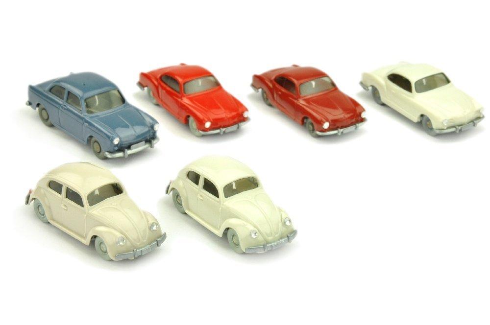 Konvolut 6 VW-PKW der 60er Jahre