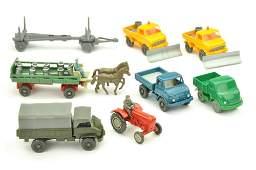Konvolut 8 Modelle der 50er70er Jahre