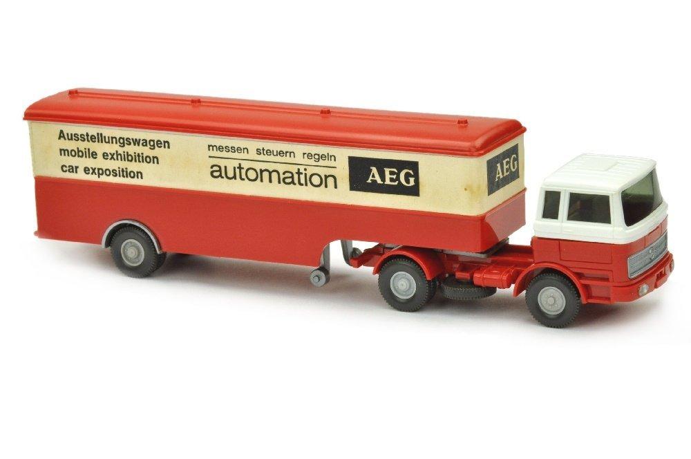 Werbemodell AEG/1 - Koffer-Sattelzug MB 1620