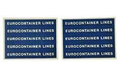 Restposten Aufkleber Eurocontainer Lines