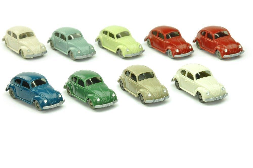 Konvolut 9 VW Kaefer (Typ 5) der 60er Jahre