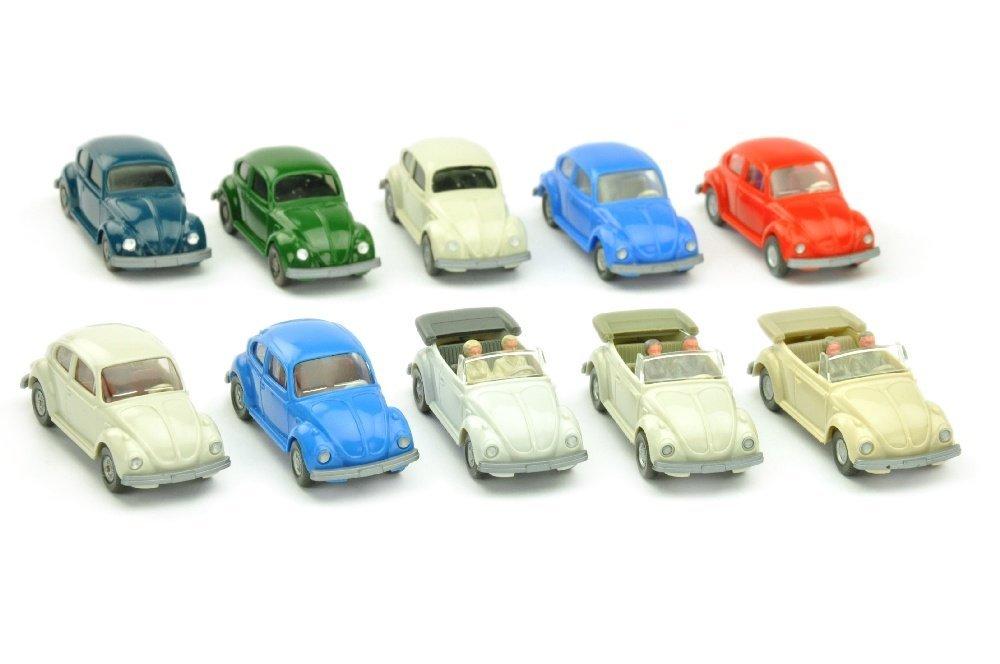 Konvolut 10 VW Kaefer der 70er Jahre