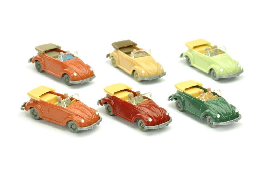 Konvolut 6 VW Kaefer Cabrios (Typ 2)