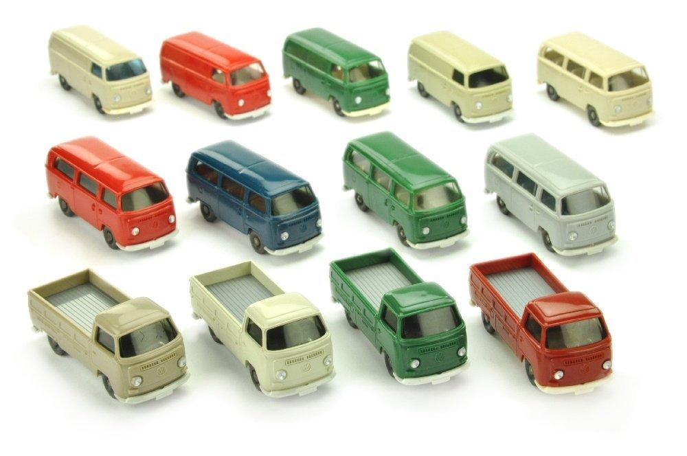 Konvolut 13 VW T2 der 70er Jahre
