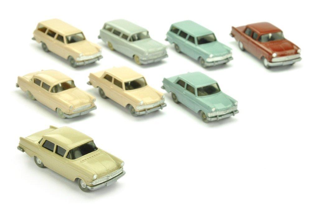 Konvolut 8 Opel-PKW der 60er Jahre