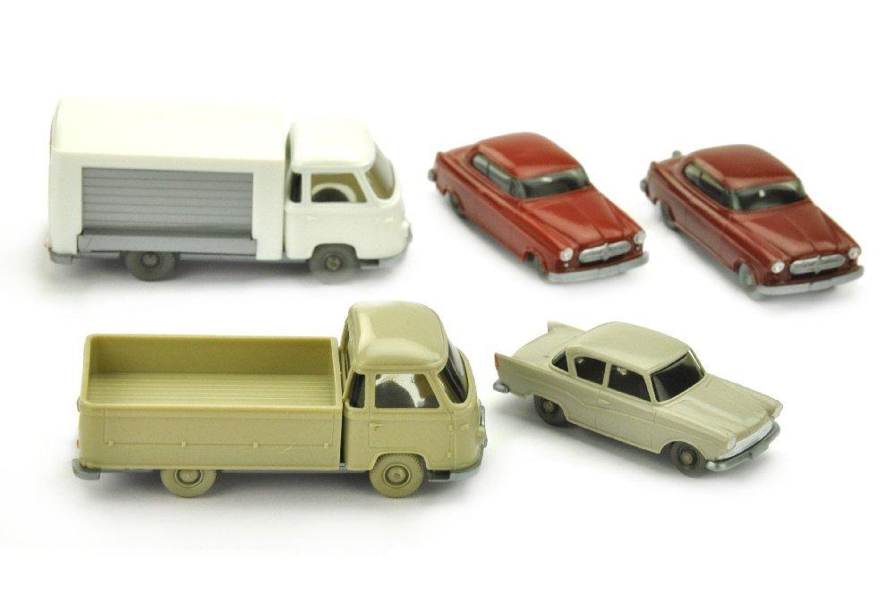 Konvolut 5 Borgward-PKW der 60er Jahre