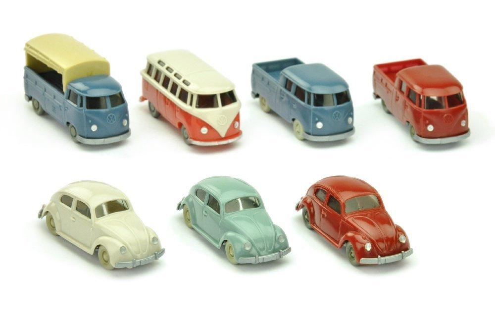 Konvolut 7 VW-PKW der 60er Jahre