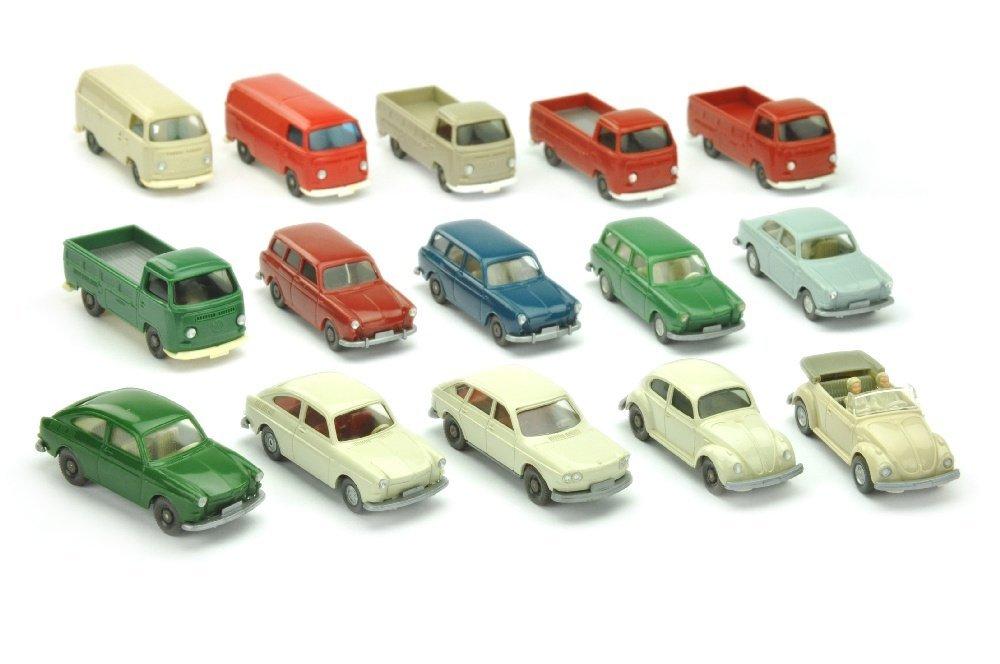 Konvolut 15 VW-PKW der 70er Jahre