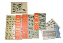 Konvolut 7 Preislisten 1956 bis 1968