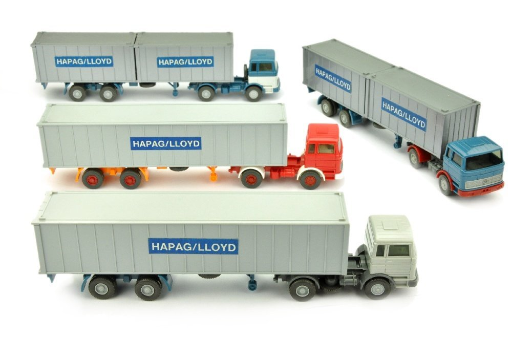 Konvolut 4 MB 1620-Hapag-Lloyd-Container-LKW