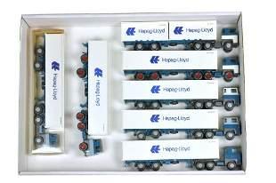 Konvolut 7 Scania-Hapag-Lloyd-Container-LKW