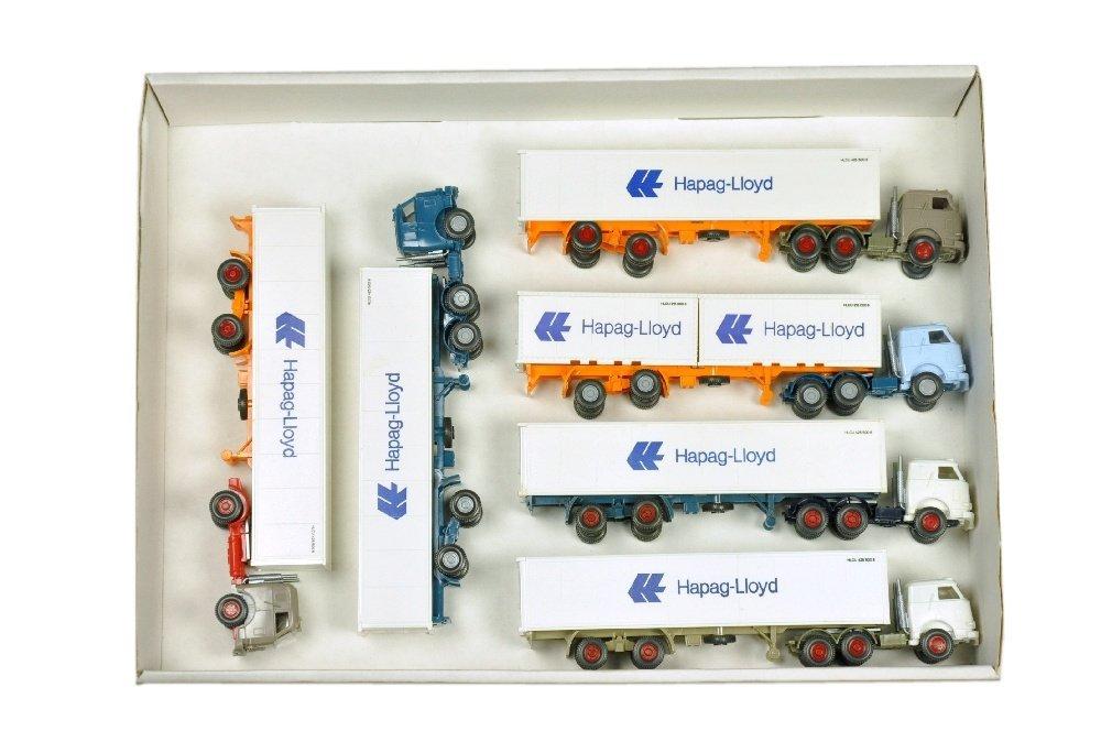Konvolut 6 US-Hapag-Lloyd-Container-LKW