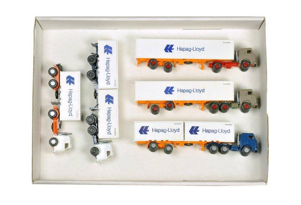 Konvolut 5 US-Hapag-Lloyd-Container-LKW