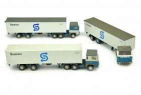 Konvolut 3 Container-lkw Scania 110 Seatrain