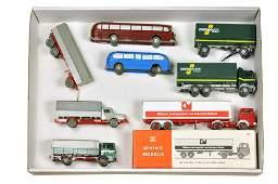 Konvolut 7 Modelle der 50er bis 70er Jahre