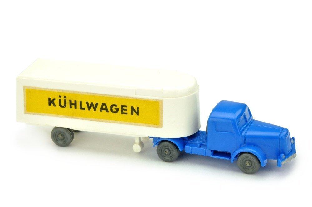Sattelzug Henschel Kuehlwagen, weiss