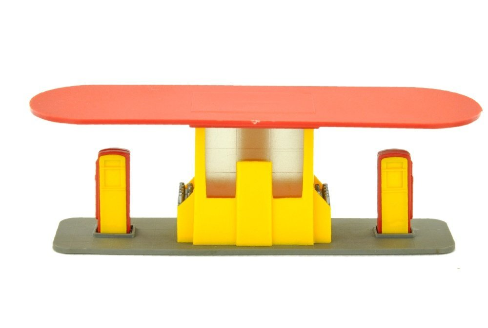 Grosse Tankstelle (neu), gelb/rot (Shell)