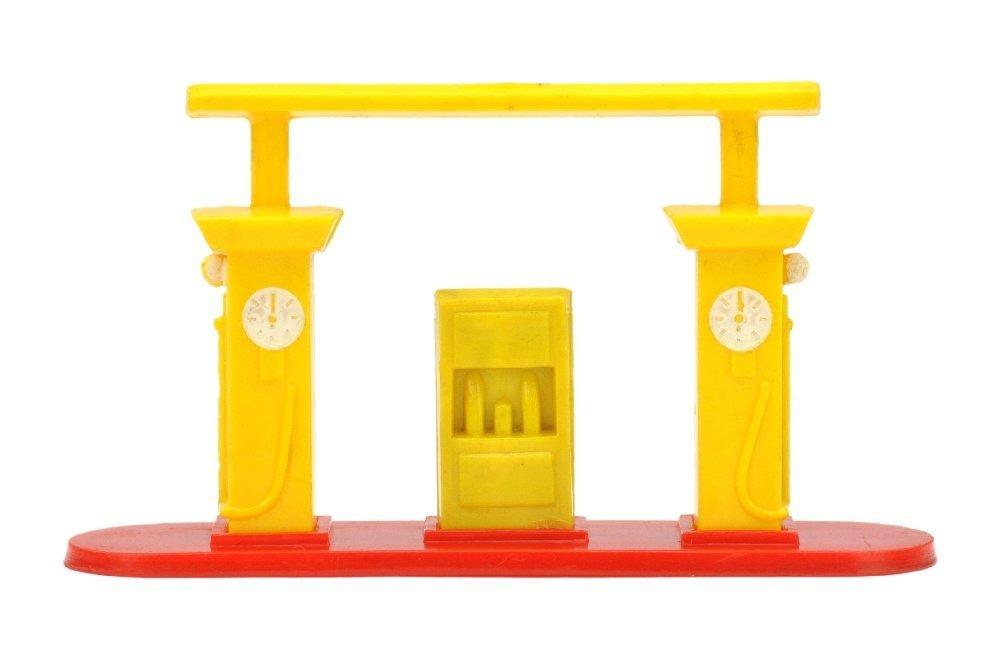 Kleine Tankstelle (Typ 1), gelb/rot