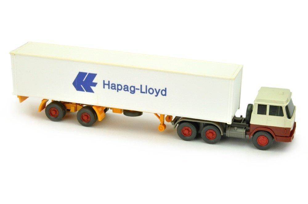 Hapag-Lloyd/7OL - Hanomag, perlweiss/rotbraun