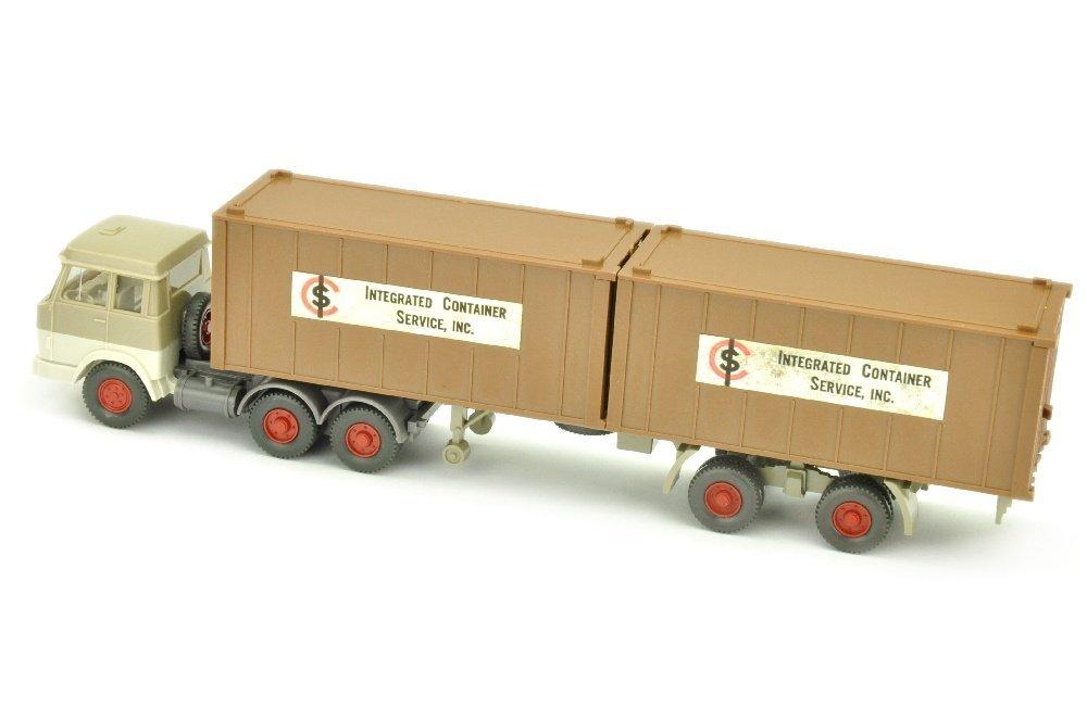 ICS/B - 2x 20ft-Container lehmbraun - 2