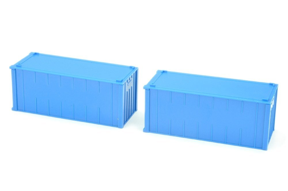 Konvolut zwei 20ft-Alucontainer, himmelblau