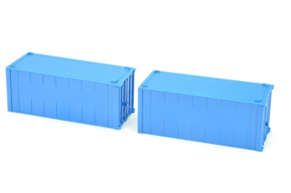 Konvolut zwei 20ft-Alucontainer, himmelblau - 2