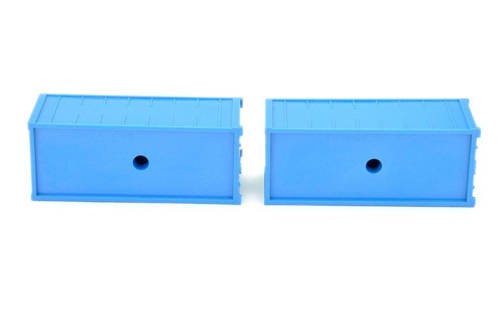Konvolut zwei 20ft-Alucontainer, himmelblau - 3