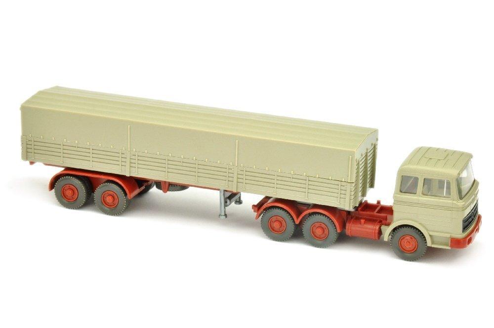 Pritschen-Sattelzug MB 2223, olivgrau
