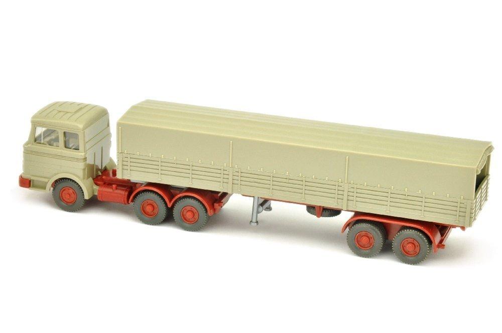 Pritschen-Sattelzug MB 2223, olivgrau - 2