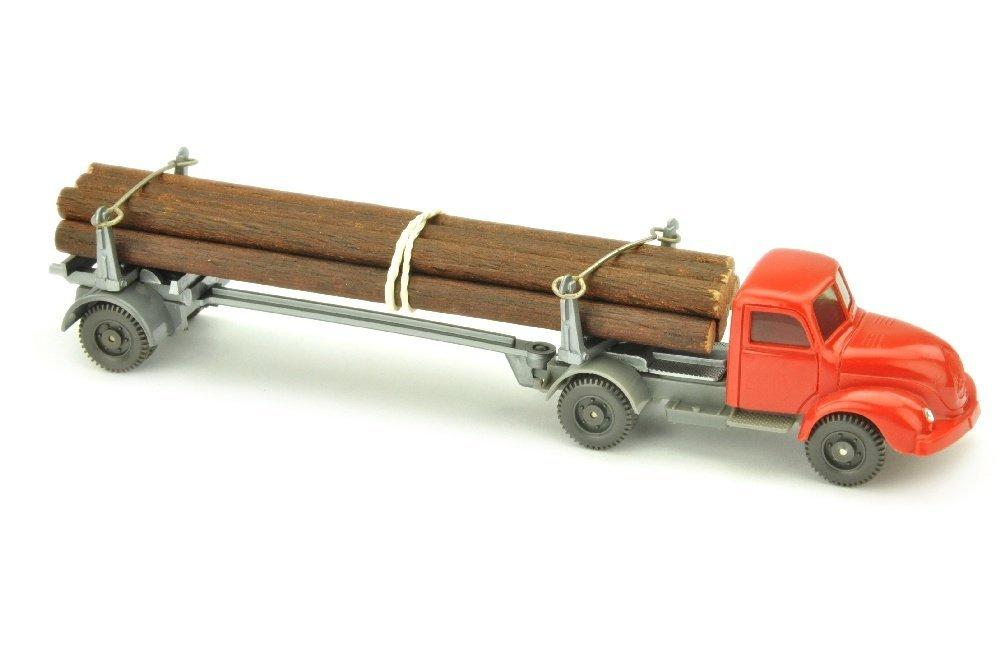 Langholztransporter Magirus, rot/basaltgrau
