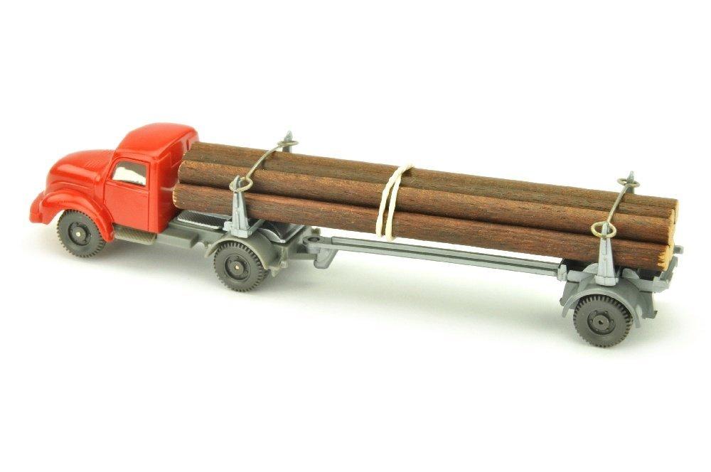 Langholztransporter Magirus, rot/basaltgrau - 2
