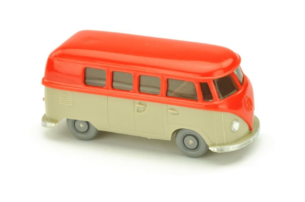 VW T1 Bus (alt), orangerot/hellgelbgrau