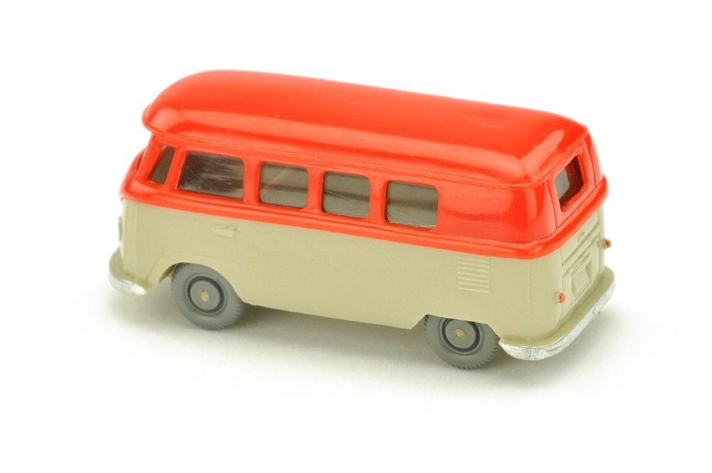 VW T1 Bus (alt), orangerot/hellgelbgrau - 2