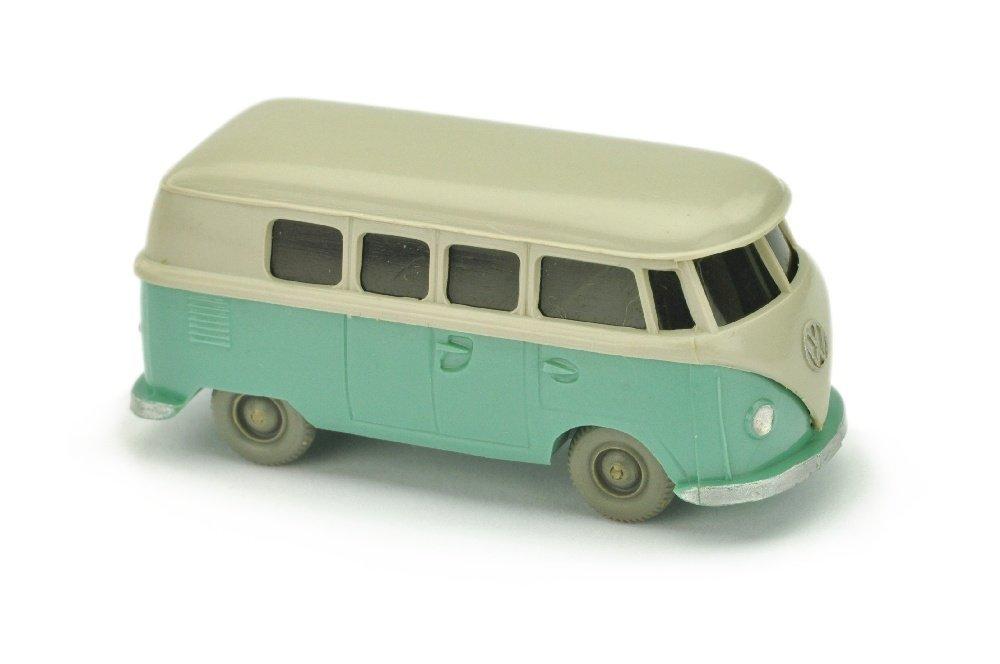 VW T1 Bus (alt), kieselgrau/tuerkis