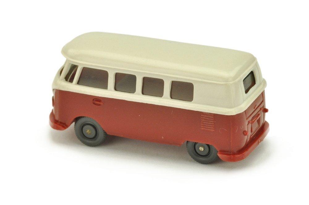 VW T1 Bus (alt), braunweiss/weinrot - 2
